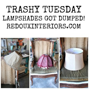 Trashy Tuesday Lamp shades got Dumped