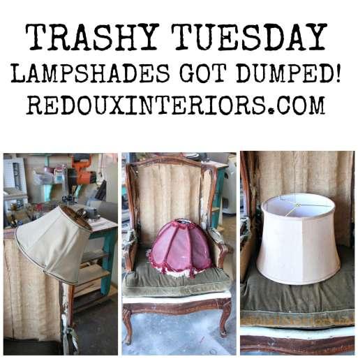 dumped lamp shades redouxinteriors