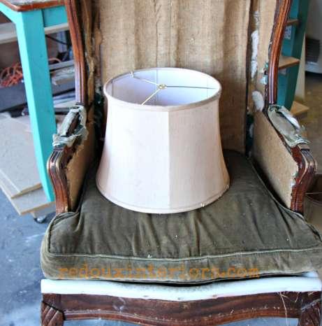 dumster cylindar lampshade redouxinteriors