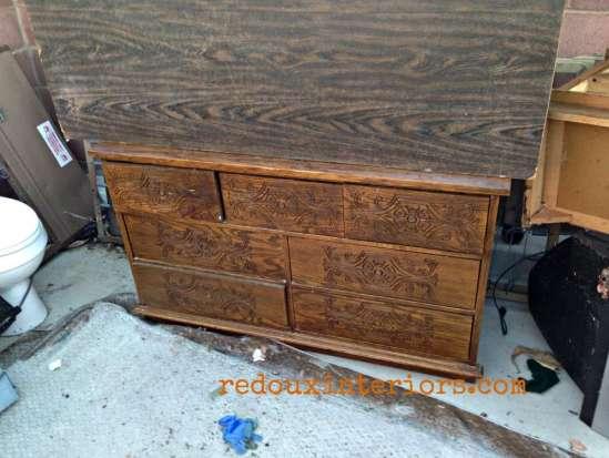 Dresser in Dumpster containter redouxinteriors