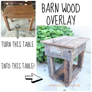 Barn Wood Overlay DIY Table and a Giveaway