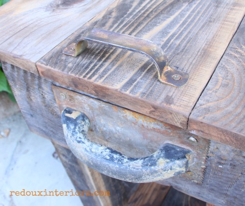 junk table patina handles and trowel for handles redouxinteriors