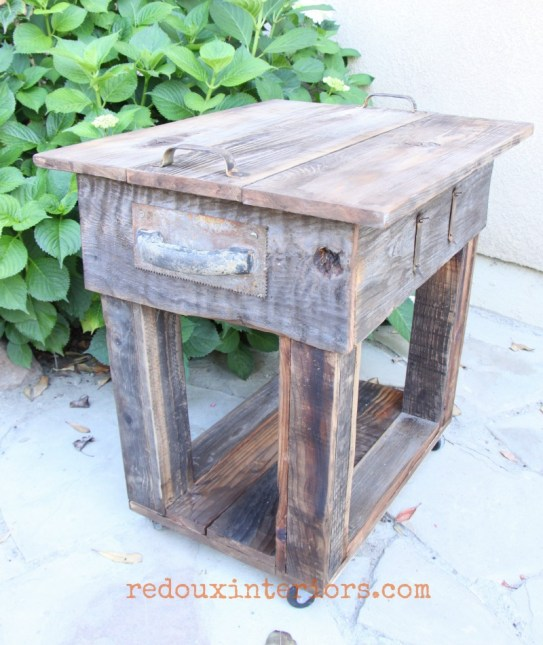 junk table with barn wood overlay complete 2 redouxinteriors