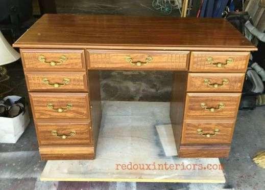 Vintage Industrial Dumpster Desk before 1
