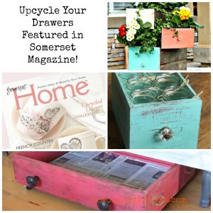 Trashy Tuesday Repurposed Drawers in Somerset Home