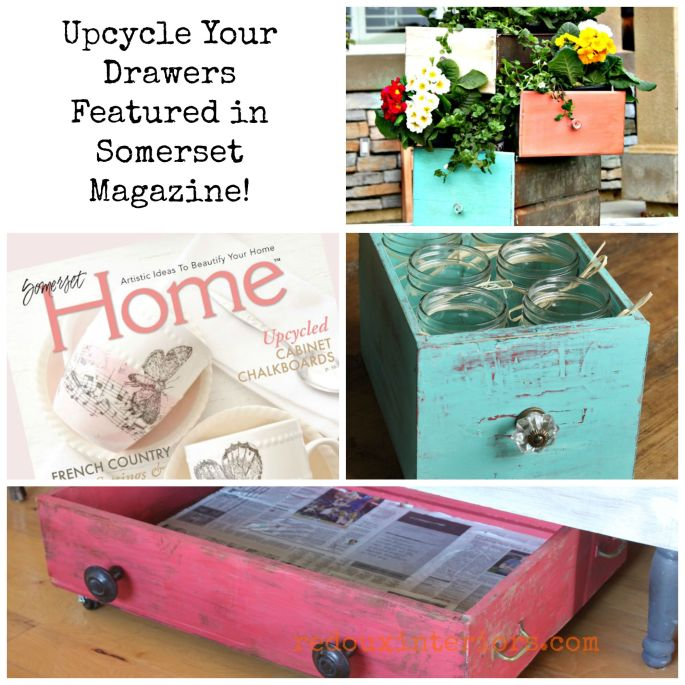 repurposed drawer ideas redouxinteriors