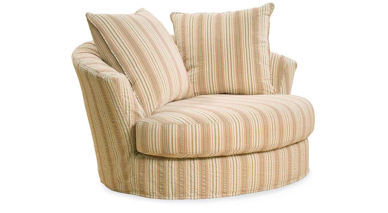 half circle chair grey canvas covers