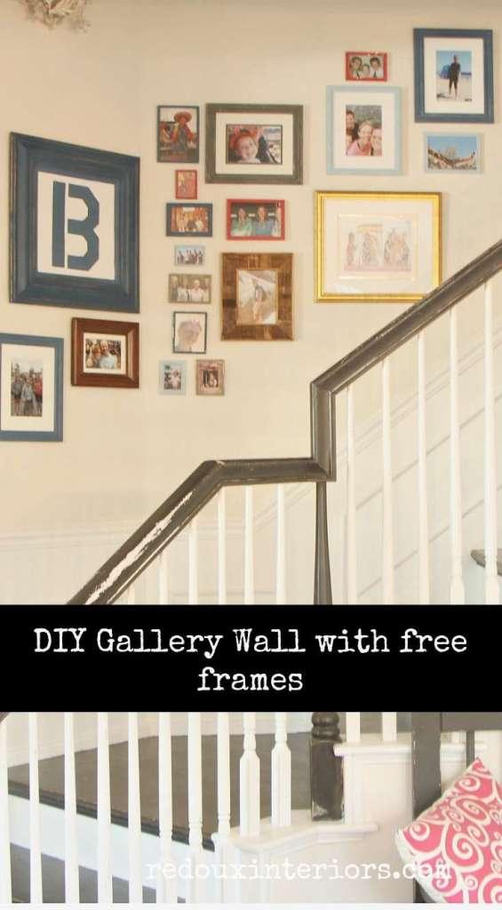DIY Gallery wall free frames diy paint redouxinteriors