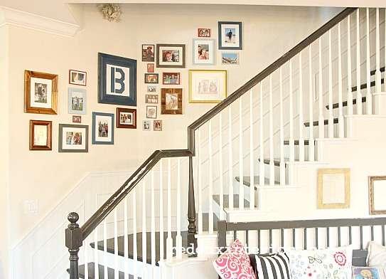 DIY Picture Gallery Wall cheap frames redouxinteriors