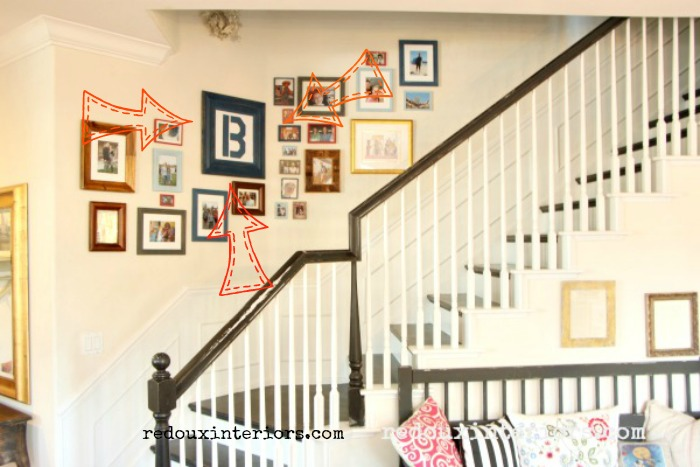 Picture Gallery Wall with B Initial redouxinteriors