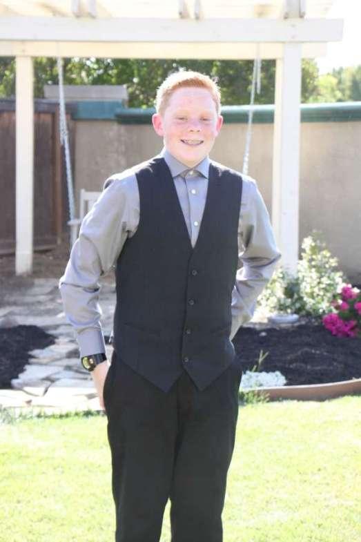Travis 8th grade dance