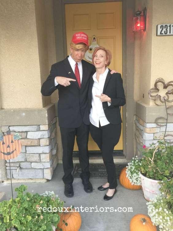 Hillary and Donald Halloween redouxinteriors