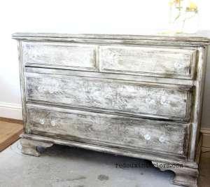 Vintage Botanical Dresser