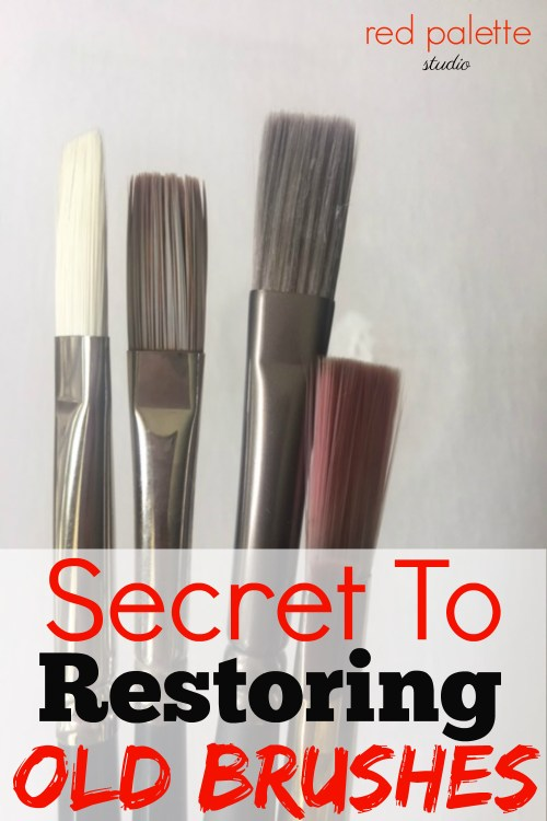 Secret to Restoring Old Brushes. This is so easy to do and works great. I have used this technique on my brushes and it saves me money. So glad I found it.