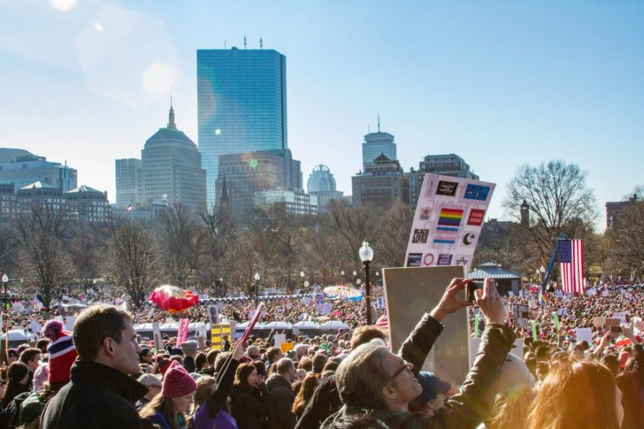 Women's March in Boston, januari 2017. Foto: Brad Fagan