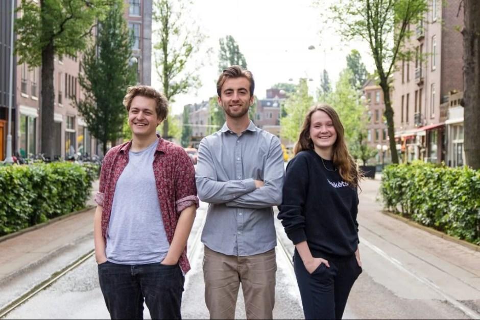 De aftredende hoofdredactie van Red Pers: Nuno Blijboom, Max van Geuns en Tess Castelijn (vlnr). Foto: Olivier Overberg