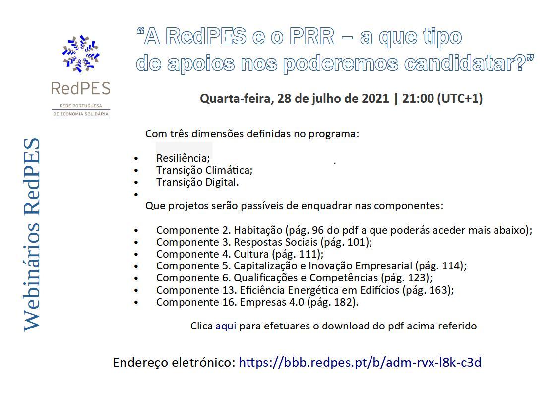 Cartaz post webinário RedPES