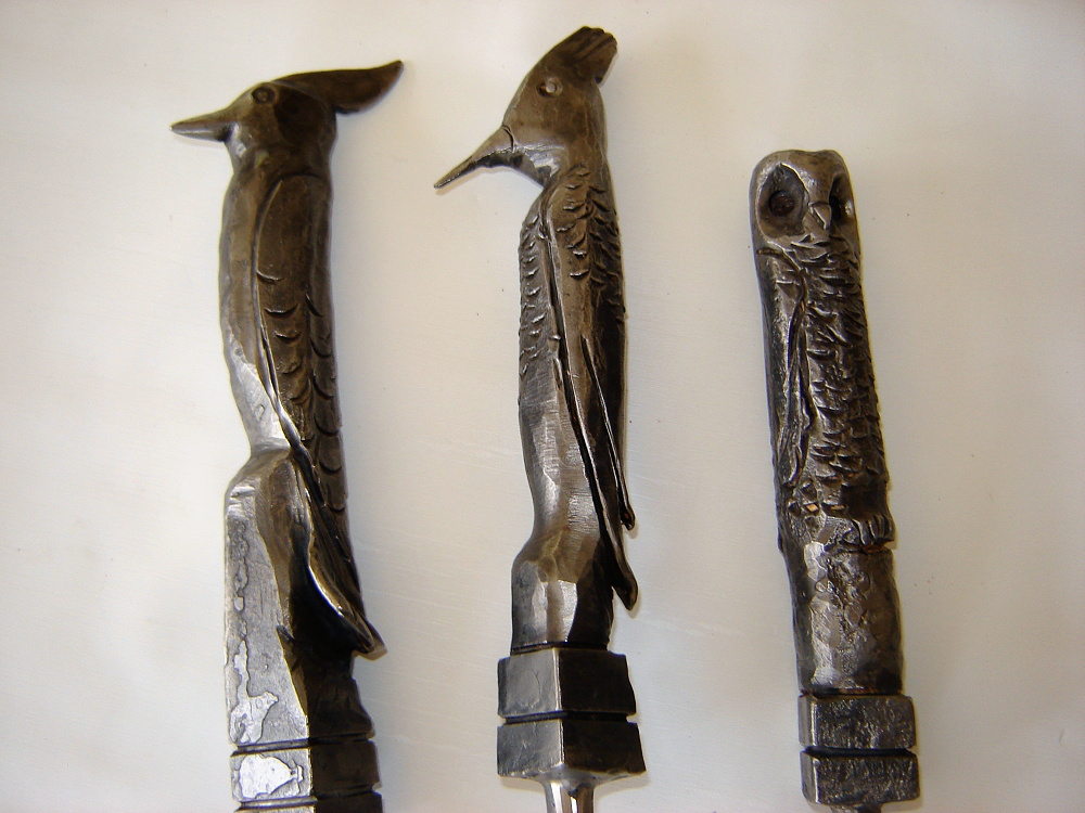 Fireplace Tool Set Bird Heads