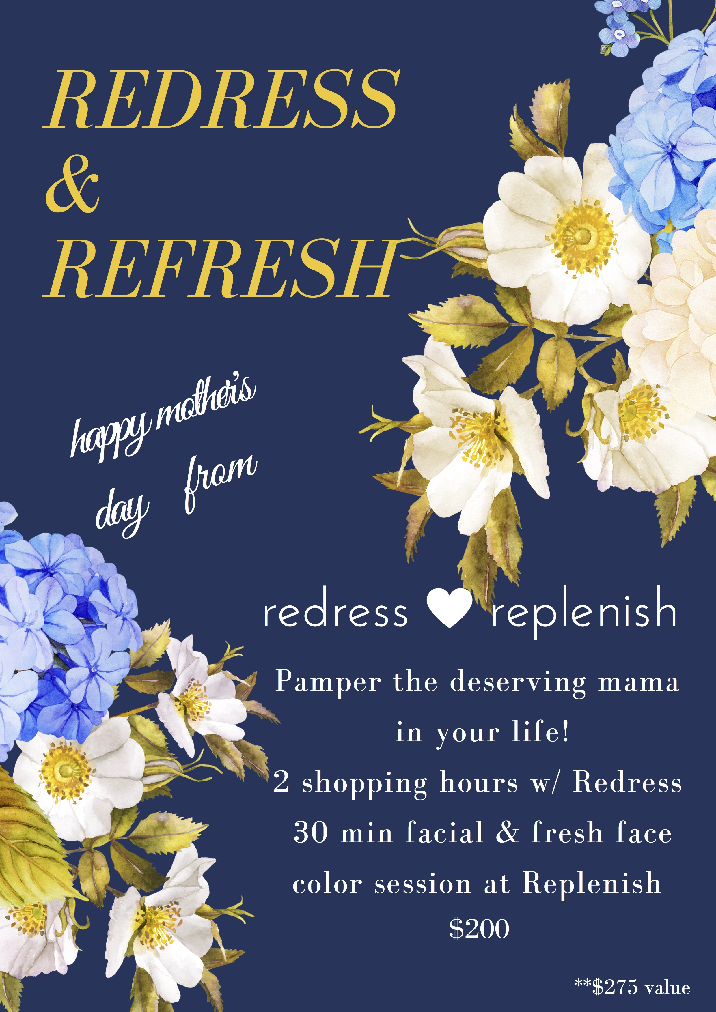 The perfect mothers day gift redress a 275 value for 200 email us at redresscolumbusyahoo to purchase happy mothers day to all of our clients friends and special mamas in our lives m4hsunfo