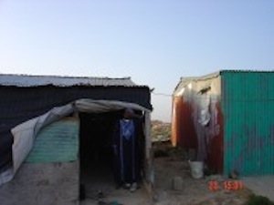 Bedouin shacks, February 2004