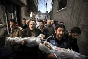 Funeral procession of children killed by Israel in Gaza