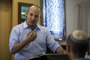Naftali Bennett, Israeli Economy Minister, leader of the Jewish Home Party and far right land thief