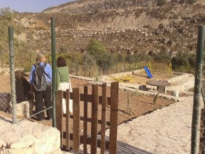 Wadi Fuqeen village park that has just received a demolition order