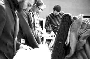 Gerald Clark's musicians - Sam Lasserson,  Duncan Haynes,  Dave Hamblett and Gerald Clark
