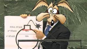 Netanyahu nuclear parody