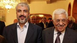 Hamas leader Khalid Meshaal and Palestinian President Mahmoud Abbas
