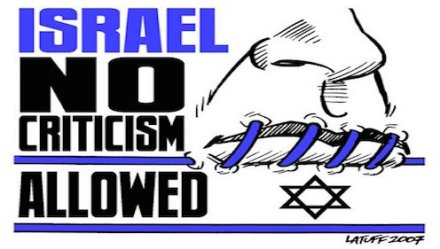 Israel – no criticism allowed
