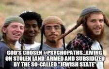 Armed Jewish psychopath-settlers