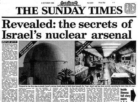 Sunday Times: Revealed: the secrets of Israel's nuclear arsenal