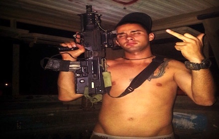 Crazed Israeli with gun