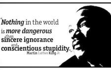 Martin Luther King on ignorance