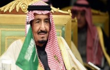 A worried looking King Salman