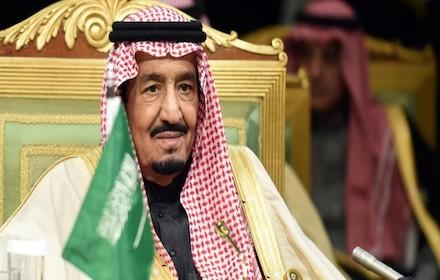 A worried looking King Salman