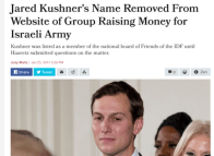 Jared Kushner - Friend of Israeli Wehrmacht