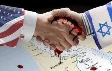 US-Israel blood-soaked handshake
