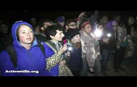 Jewish and Palestinian anti-occupation activists