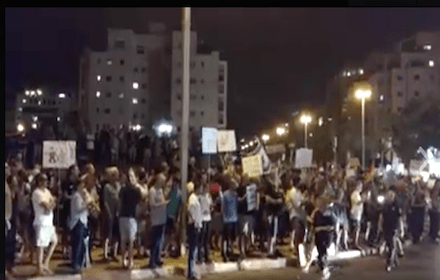 Israeli anti-corruption protesters - Aug 2017