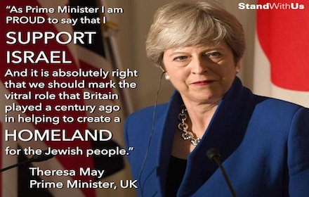 Theresa May propagandising for Israel