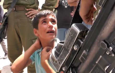 Israeli army brutality against Palestinian children