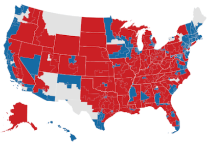 US political map Nov 2018