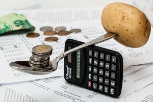scaling money and potato