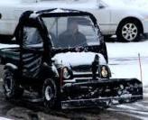 snow bulldozer truck