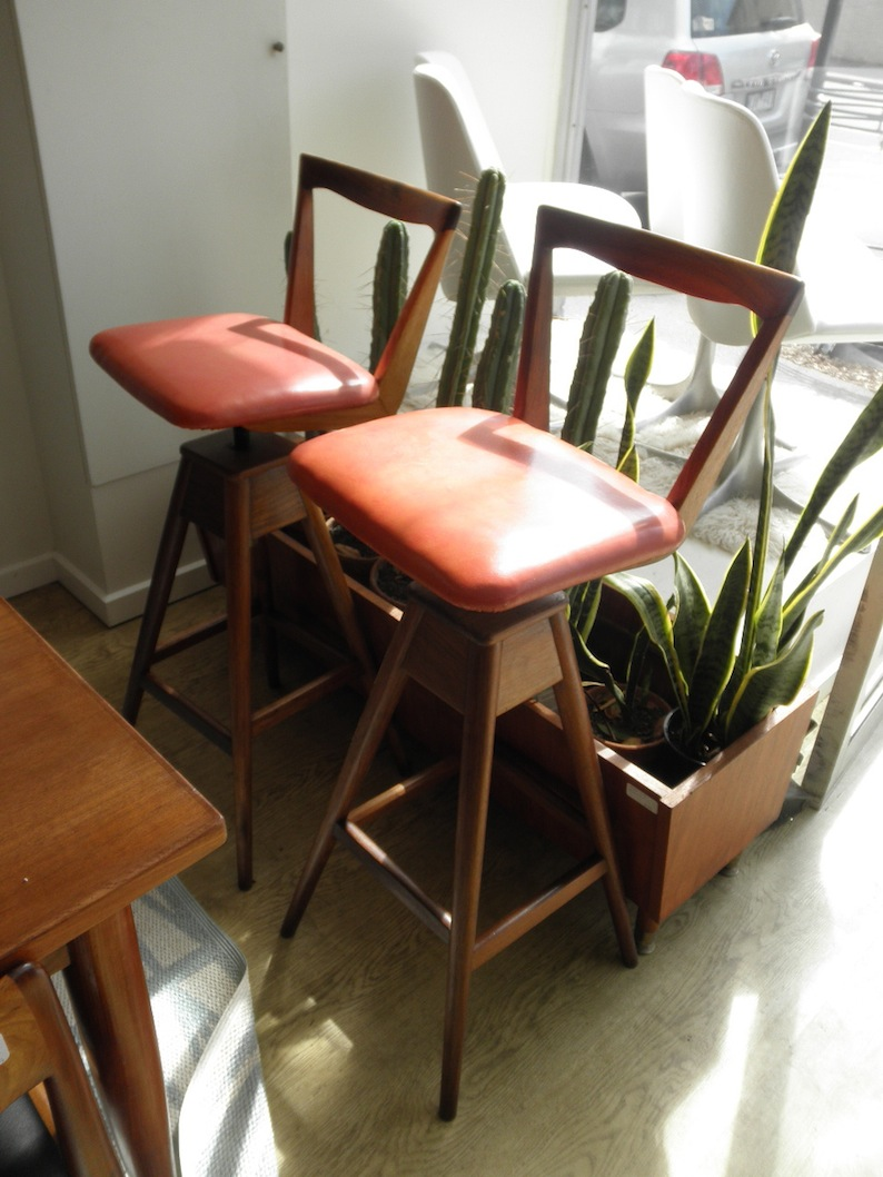 TH Brown bar stools circa early 1960s  Red Rider