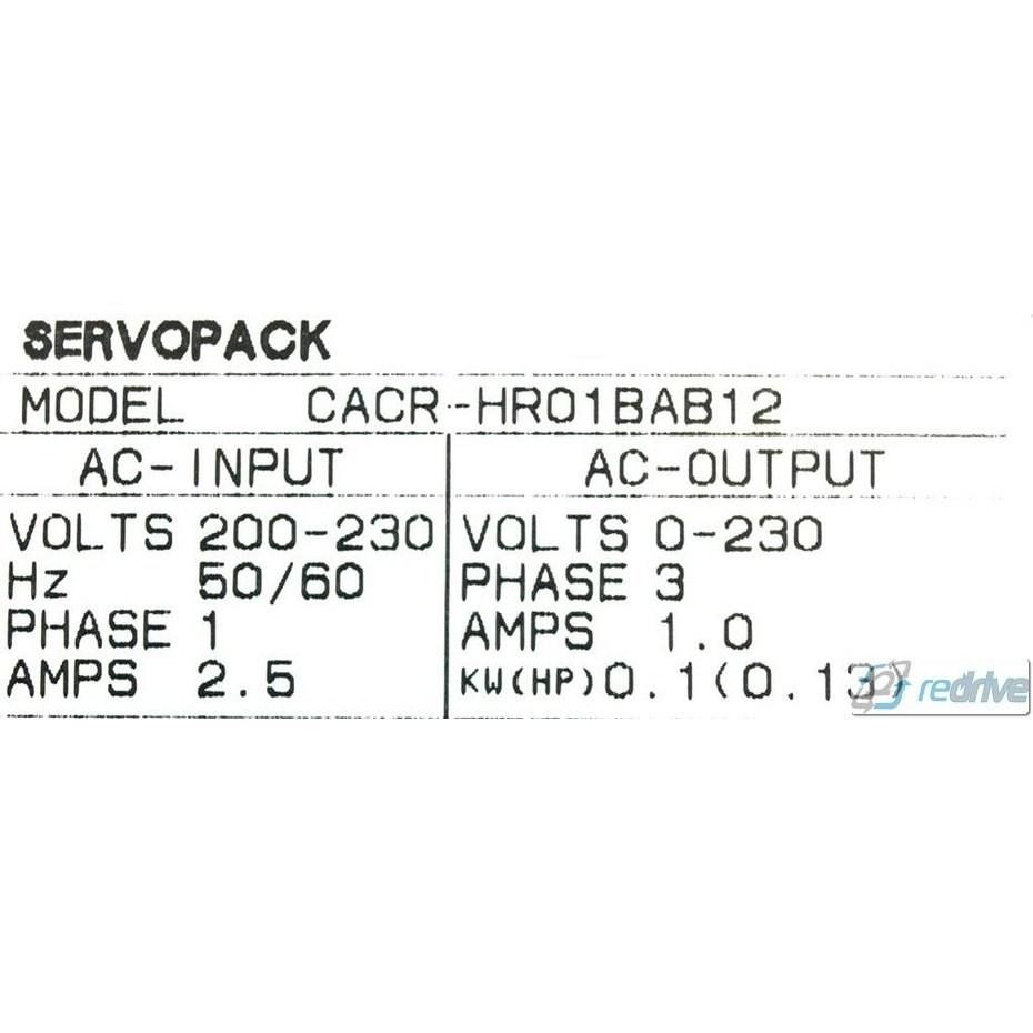 CACR-HR01BAB12 Yaskawa Servo Drive Yasnac AC ServoPack