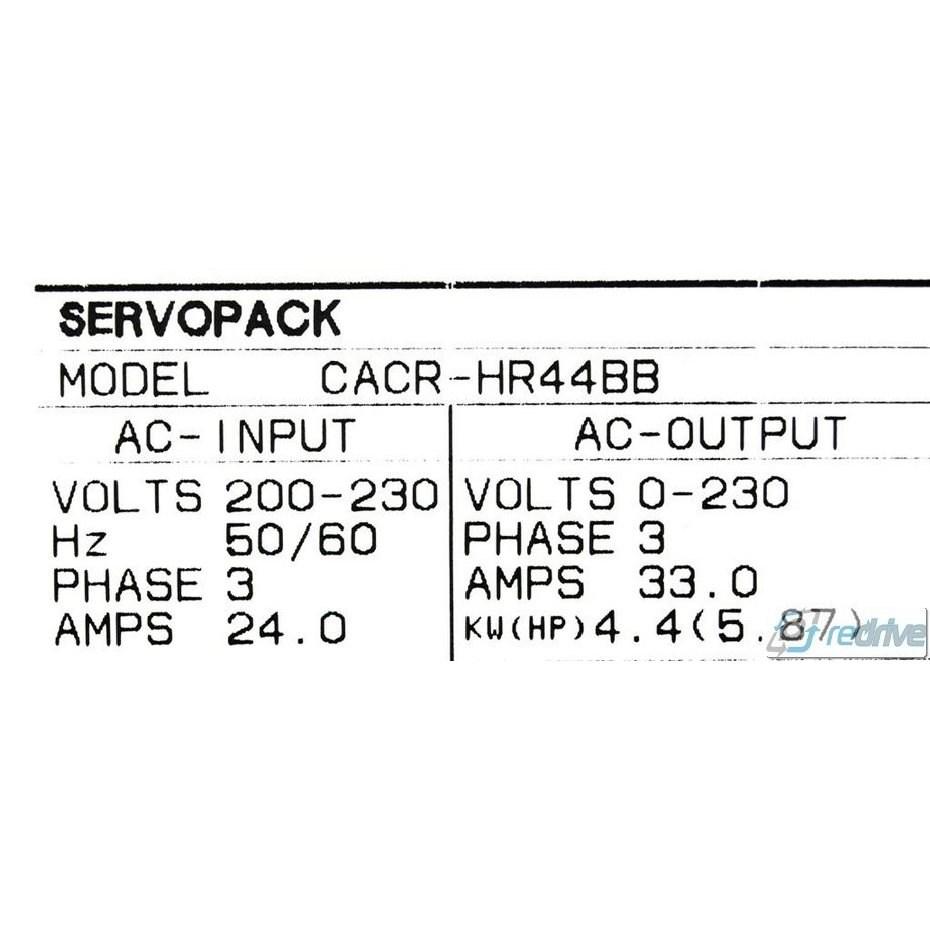 CACR-HR44BB Yaskawa Servo Drive Yasnac AC ServoPack