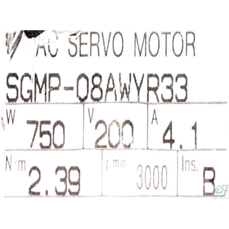 SGMP-08AWYR33 Yaskawa AC Servo Motor Sigma I 0.75 kW 3000 rpm